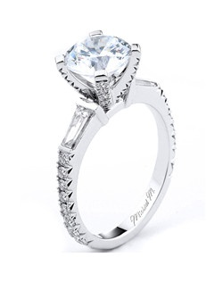 Platinum MICHAEL M engagement ring featuring 0.96 ct G,VS diamonds. Also available in 18K White, Yellow and Rose Gold.