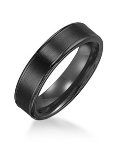 6mm White Tungsten Carbide Satin Finish Flat Center with Bright Polish Round Edges Comfort Fit Wedding Band