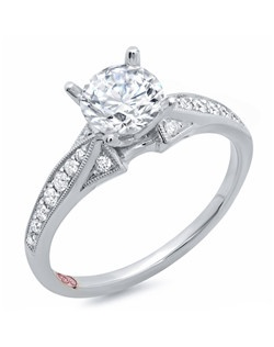 Available in White Gold 18KT and Platinum.0.18 RD.