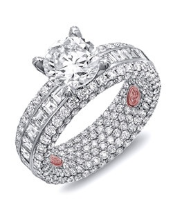Available in White or Yellow Gold 18KT and Platinum. 5.57 CTW.