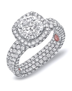 Available in White or Yellow Gold 18KT and Platinum. 3.38 RD.