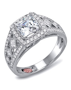 Available in White or Yellow Gold 18KT and Platinum. 0.61 CTW.