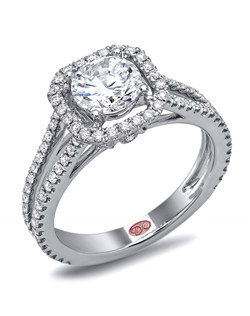 Available in White or Yellow Gold 18KT and Platinum. 0.57 RD.