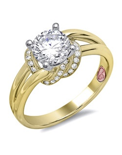 Available in White or Yellow Gold 18KT and Platinum. 0.12RD.