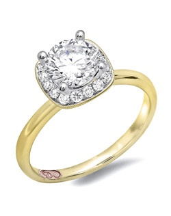Available in White or Yellow Gold 18KT and Platinum. 0.20RD.