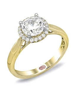 Available in White or Yellow Gold 18KT and Platinum. 0.14 RD.