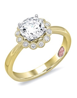 Available in White or Yellow Gold 18KT and Platinum. 0.11 RD.