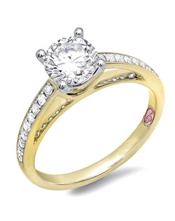 Available in White or Yellow Gold 18KT and Platinum. 0.17RD.