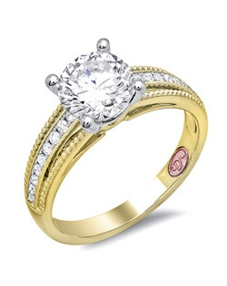 Available in White or Yellow Gold 18KT and Platinum. 0.15RD.