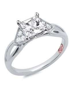 Available in White Gold 18KT and Platinum.0.14 RD. Price excludes center stone