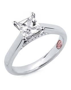Available in White Gold 18KT and Platinum.0.07 RD. Price excludes center stone