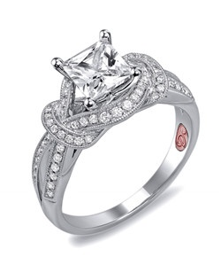 Available in White or Yellow Gold 18KT and Platinum. 0.26 RD.