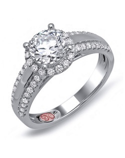Available in White or Yellow Gold 18KT and Platinum. 0.36 RD.
