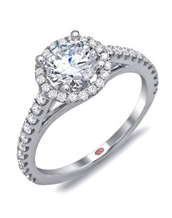 Available in White or Yellow Gold 18KT and Platinum. 0.43 RD.