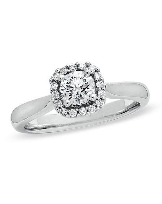 Zales 5 8 CT T W Diamond Engagement Ring in 14K White Gold Wedding