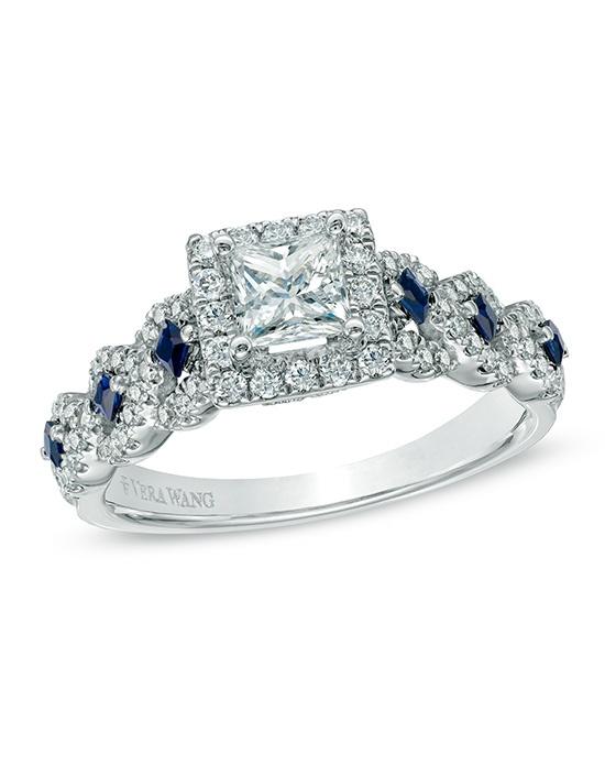Vera Wang LOVE At Zales Vera Wang LOVE Collection 1 CT TW Diamond And Blue Sapphire