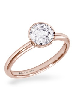 Shown in 14K rose gold.(Price excludes center stone)