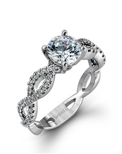 18K white gold ring comprised of 0.32ctw round white diamonds.