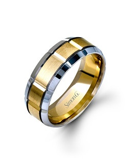 14K white and yellow gold band.