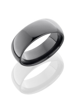 This classic Black Zirconium men's wedding band is 6mm wide with a custom dome design and is polished for a lustrous shine. Bring out the best in him with this sophisticated design.