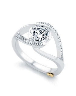 The Sumptuous engagement ring contains 27 diamonds, totaling 0.135ctw. Shown with a 1ct center diamond. Center stone sold separately, not included in price. Available in yellow, white, or rose gold, and platinum. Rings can be custom made to fit any size or shape diamond or color center stone. Price excludes center stone