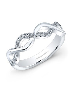 Round diamond, .35 total carat weight: in 18k white gold