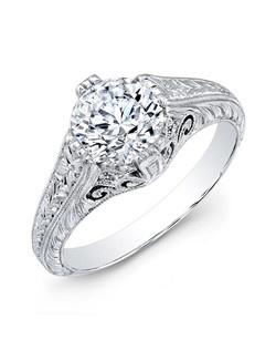 Round brilliant diamond, 1.16 carats; platinum setting