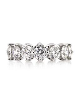 This remarkable round brilliant cut diamond eternity band will leave you speechless! Each and every diamond is hand selected to match each other beautifully. The diamonds are all exceptionally white and perfectly clear. They are selected for their excellence in cut as well. Each one is handmade to perfection for the size it is ordered in. Also available in white gold.