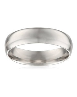 Choose a solid, classic look with this 6mm comfort fit men's wedding band, crafted in strong and radiant 950 platinum. This handsome band has a slightly rounded shape with a bright polished finish. The comfort fit design features a rounded polished interior that allows the ring to slide on easily and rest comfortably on the finger. Platinum is a beautiful and popular precious metal, valued for its extreme rarity and natural silver-white luster. It does not splinter or wear away easily, making it the most durable choice for everyday wear. Because it is 95% pure platinum, 950 platinum is also hypoallergenic, making it an ideal choice for those with metal sensitivities.