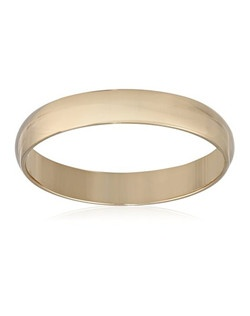 Men's 10k Yellow Gold 4mm Traditional Plain Wedding Band