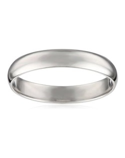 Men's Platinum 4mm Traditional Plain Wedding Band with Luxury High Polish