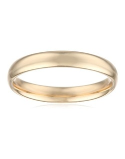 Choose a classic look with this 4mm comfort fit men's wedding band, made from radiant and durable polished 14 karat yellow gold. The solid, plain design is simple and enduring, and features a rounded polished interior that allows the ring to slide on easily and rest comfortably on the finger.
