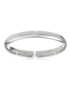 Women's Platinum 2.5mm Traditional Plain Wedding Band with Luxury High Polish