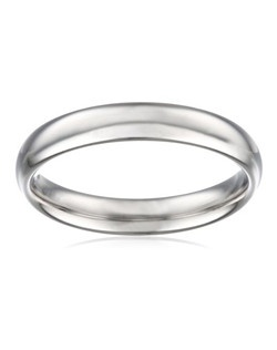 Choose a classic look with this 4mm comfort fit men's wedding band, made from radiant and durable 14 karat white gold. The solid, plain design is simple and enduring, and features a rounded polished interior that allows the ring to slide on easily and rest comfortably on the finger.