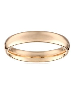 Men's 14k Yellow Gold 4mm Comfort Fit Plain Wedding Band