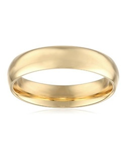 Men's 18k Yellow Gold 5mm Comfort Fit Plain Wedding Band