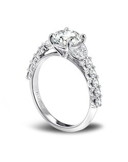 Designs by Vatché diamond and platinum engagement ring. JCK 2014 Platinum Innovation Awards Winner.