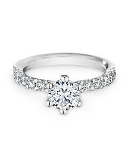 18K white gold, diamonds, round, 1.00ct
