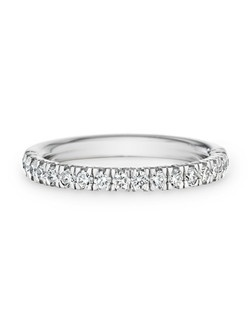 18K white gold, diamond, round
