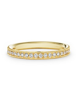 18k yellow gold, diamond, round