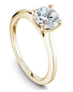 18k yellow gold classic solitaire
