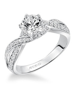 Presley, Contemporary Diamond with Twisted Shank Engagement Ring