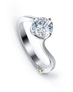 The Posy engagement ring contains 1 diamond, totaling 0.005ctw. Center stone sold separately, not included in price. Available in yellow, white, or rose gold, and platinum. Rings can be custom made to fit any size or shape diamond or color center stone. Price excludes center stone