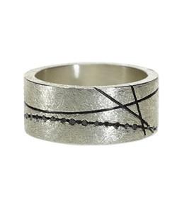 Sterling silver with black brilliant diamonds