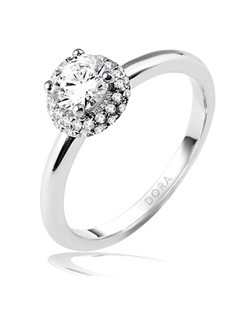 Based on 14K. The fit isF, in size7.00, and the width is2.1 mm. The total diamond weight is 0.200, consisting of: Qty 40 - VS, G/H - 0.005ct. Round diamonds. Multi-Color Ring. Available in 10K, 14K and 18K Gold and Platinum. Gold price is based on 1215 gold. Price excludes center stone