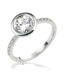 Based on 14K. The fit isCF, in size7.00, and the width is1.8 mm. The total diamond weight is 0.128, consisting of: Qty 16 - VS, G/H - 0.008ct. Round diamonds. Multi-Color Ring. Available in 10K, 14K and 18K Gold and Platinum. Gold price is based on 1215 gold. Prices do not include the center diamond.