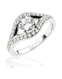 Based on 14K. The fit isCF, in size7.00, and the width is10.3 mm. The total diamond weight is 0.460, consisting of: Qty 4 - VS, G/H - 0.010ct. Round diamonds and Qty 28 - VS, G/H - 0.015ct. Round diamonds. Multi-Color Ring. Available in 10K, 14K and 18K Gold and Platinum. Gold price is based on 1215 gold. Prices do not include the center diamond.