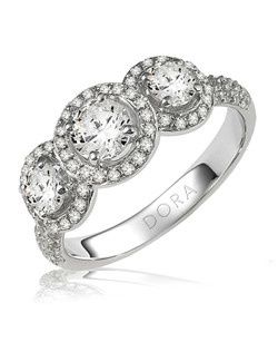 Based on 14K. The fit isCF, in size7.00, and the width is8.3 mm. The total diamond weight is 2.020, consisting of: Qty 2 - VS, G/H - 0.250ct. Round diamonds, Qty 39 - VS, G/H - 0.005ct. Round diamonds, Qty 45 - VS, G/H - 0.005ct. Round diamonds, Qty 2 - VS, G/H - 0.250ct. Round diamonds, Qty 30 - VS, G/H - 0.010ct. Round diamonds and Qty 30 - VS, G/H - 0.010ct. Round diamonds.  Multi-Color Ring. Available in 10K, 14K and 18K Gold and Platinum. Gold price is based on 1215 gold. Prices do not include the center diamond.