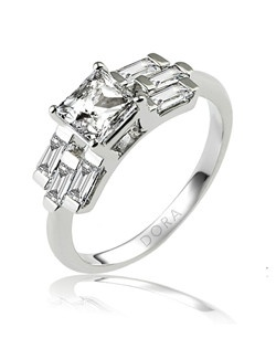 Based on 14K. The fit isF, in size7.00, and the width is6.2 mm. The total diamond weight is 0.900, consisting of: Qty 6 - VS, G/H - 0.150ct. Straight Baguette diamonds. Multi-Color Ring. Available in 10K, 14K and 18K Gold and Platinum. Gold price is based on 1215 gold. Prices do not include the center diamond.