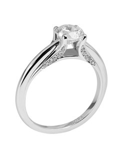 Based on 14K. The fit isF, in size7.00, and the width is5 mm. The total diamond weight is 0.100, consisting of: Qty 20 - VS, G/H - 0.005ct. Round diamonds. Multi-Color Ring. Available in 10K, 14K and 18K Gold and Platinum. Gold price is based on 1215 gold. Prices do not include the center diamond.
